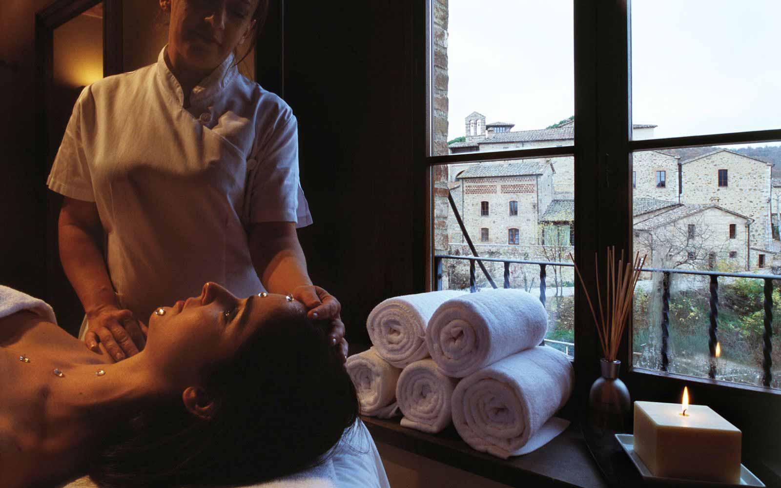 Massage treatment at Castel Monastero Tuscan Resort & Spa