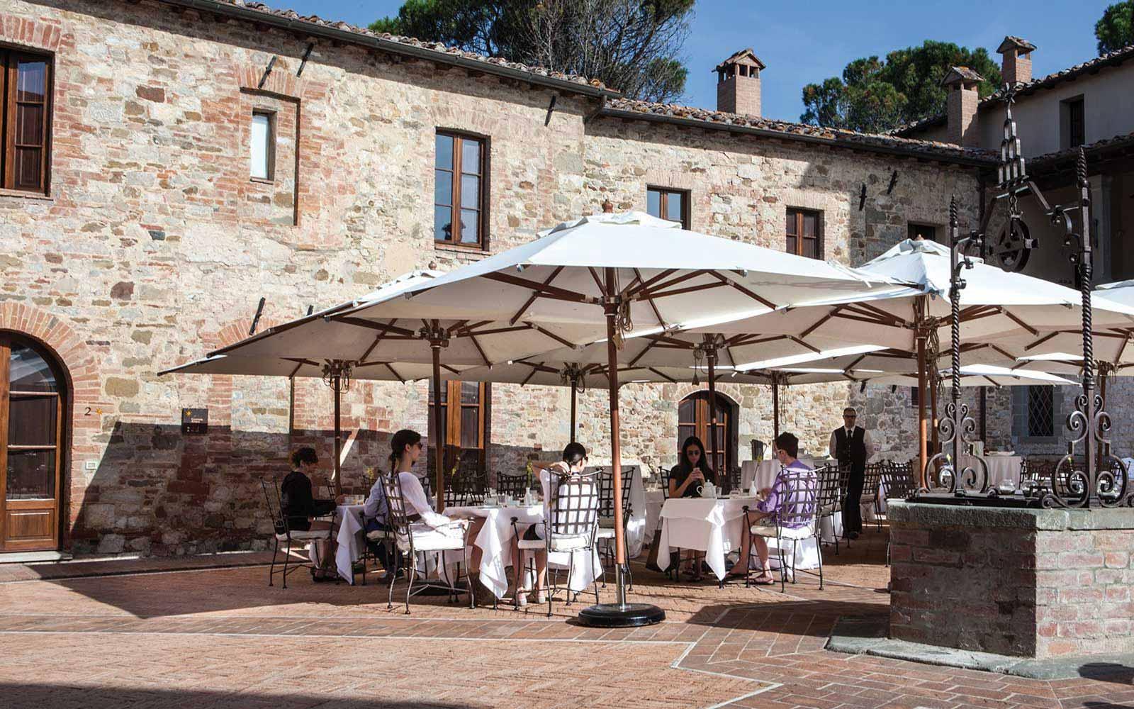Piazza Contrada at Castel Monastero Tuscan Resort & Spa