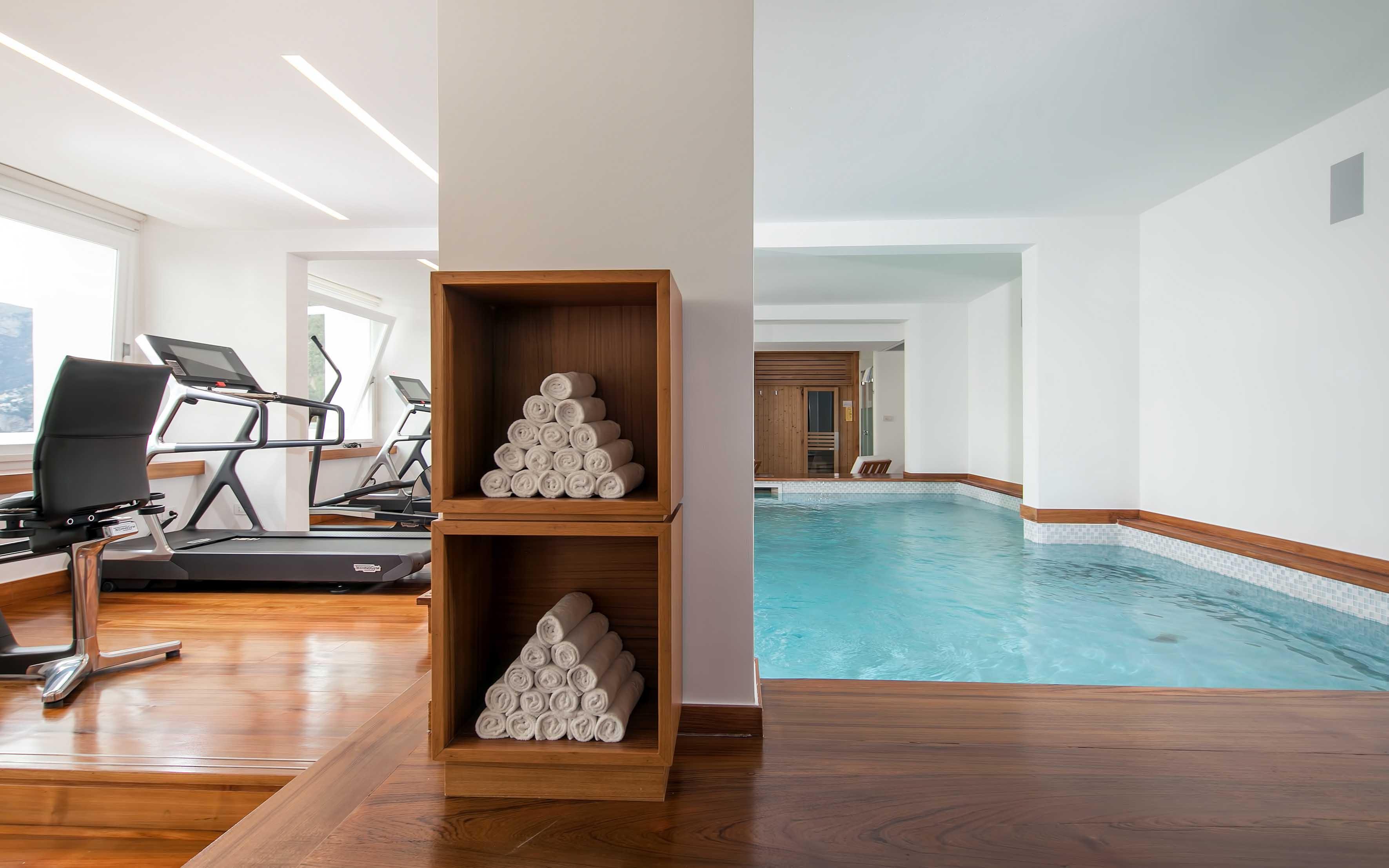 Gym  & Indoor Pool at Casa Angelina